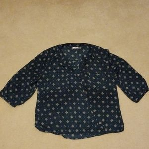 Maurices blue blouse